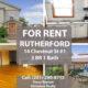Rutherford, NJ'de Kiralik daire. 3 oda 1 salon. Manhattana 25 dakika tren ve otobus kosebasinda.